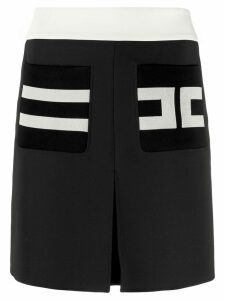 Elisabetta Franchi short logo skirt - Blue