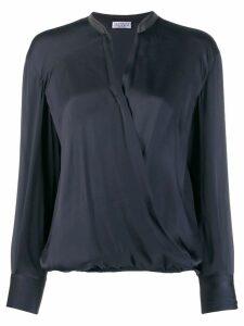 Brunello Cucinelli V-neck wrap blouse - Blue