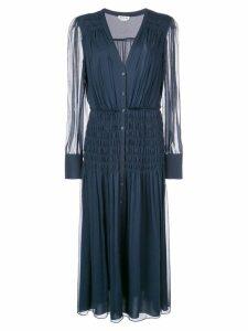 Jason Wu ruched midi dress - Blue