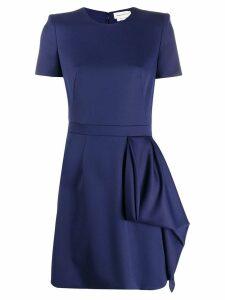 Alexander McQueen draped panel dress - Blue
