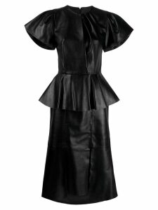 Alexander McQueen peplum midi dress - Black