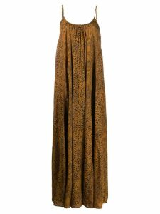 Mes Demoiselles pleated shift dress - Brown