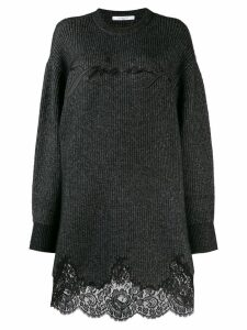 Givenchy lace scalloped sweater dress - Black