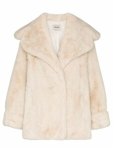 We11done oversized faux fur coat - Neutrals
