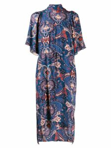 See By Chloé print midi dress - Blue