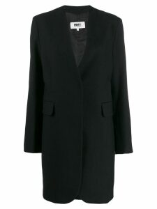 Mm6 Maison Margiela single-breasted coat - Black
