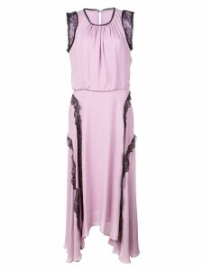 Jason Wu lace trim midi dress - Purple