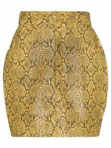 Michael Lo Sordo snake-effect mini skirt - Multicolour