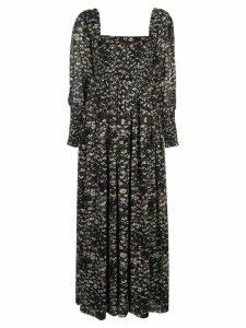 Ganni Printed Georgette dress - Black