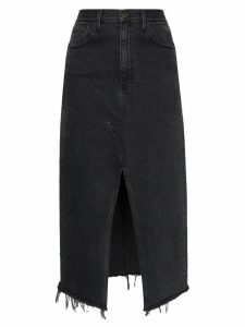 3x1 Elizabella front slit denim skirt - Black