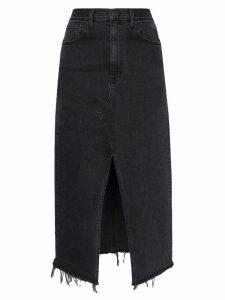 3x1 Elizabella front slit denim skirt - Black