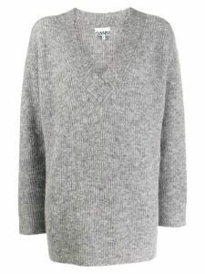 Ganni ribbed oversize jumpers - Grey