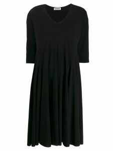 Jil Sander V-neck loose fit dress - Black