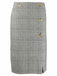 Versace checked pencil skirt - Black