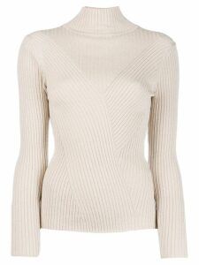 Lorena Antoniazzi roll neck knitted top - Neutrals