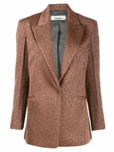 Circus Hotel lamé slim fit blazer - Brown