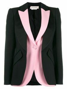 Alexander McQueen deconstructed double jacket - Black