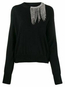 Circus Hotel crystal embellished neck sweater - Black