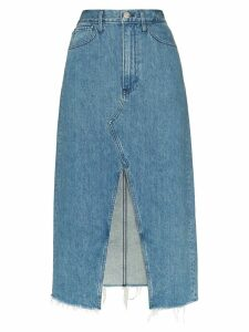3x1 Elizabella front slit denim skirt - Blue