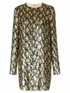Michael Kors snakeskin pattern sequinned dress - Gold