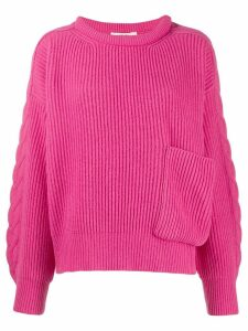 Circus Hotel front pocket ribbed sweater - Pink