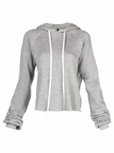 Unravel Project drawstring hooded sweater - Grey