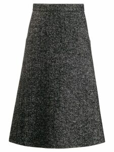 Société Anonyme herringbone midi skirt - Black