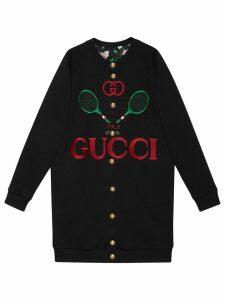 Gucci reversible oversize cardigan sweatshirt - Black