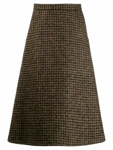 Société Anonyme checked midi skirt - Brown