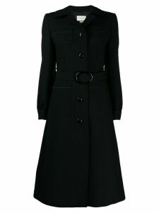 Gucci Belted wool coat - Black