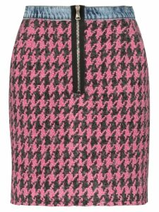 Natasha Zinko high-waisted houndstooth skirt - Pink