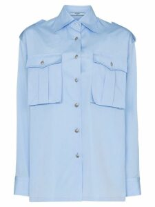 Prada Oversized utility shirt - Blue