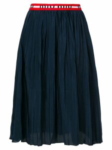 Miu Miu pleated midi skirt - Blue