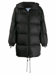 Prada padded nylon coat - Black
