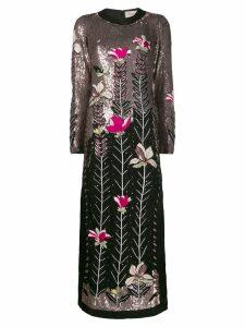 Temperley London magnolia maxi-dress - Black