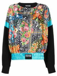 Versace Jeans Couture silk print sweatshirt - Black