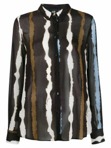 Cavalli Class striped shirt - Black