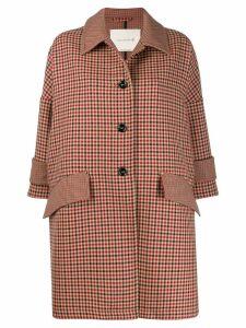 Mackintosh HUMBIE Shepherd Check Virgin Wool Cropped Sleeve Overcoat