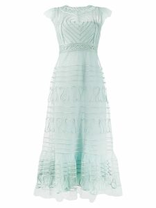 Red Valentino lace embroidered dress - Blue