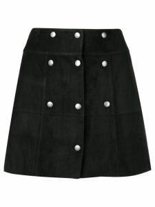 Saint Laurent buttoned A-line mini skirt - Black