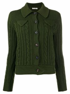 Miu Miu cable knit cardigan - Green