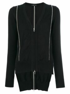 Unconditional inserted zip cardigan - Black