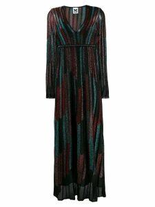 M Missoni striped flared dress - Black