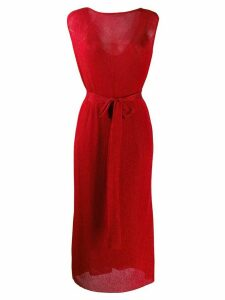 Missoni tie waist dress - Red