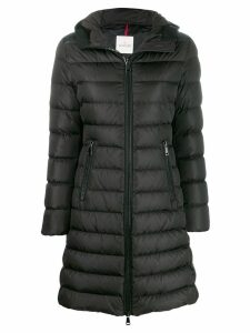 Moncler zipped padded coat - Black