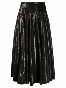 MSGM textured full midi skirt - Brown