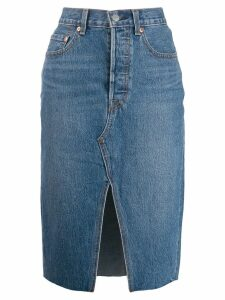 Levi's front slit denim skirt - Blue