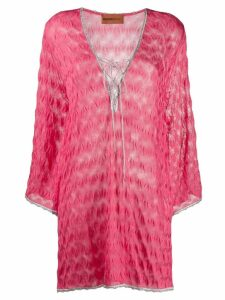 Missoni Mare short textured dress - Pink