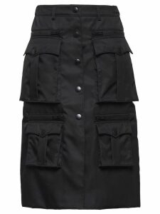 Prada pocketed trapeze gabardine skirt - Black