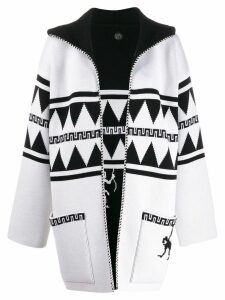 Alanui Crazy Monkey reversible coat - White